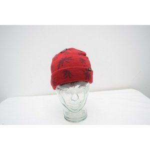 Vans One Size Palm Beanie Red Knit New Cuff